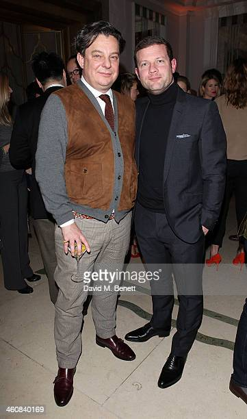 Robert Johnston and Dermot O'Leary attend the Rake Magazine and Claridges party for the London Collections Men at Claridges Hotel on January 5 2014...