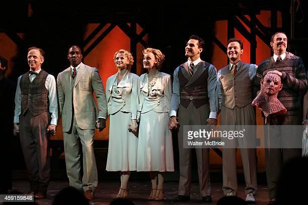 Robert Joy David St Louis Ryan Silverman Emily Padgett Erin Davie Matthew Hydzik and Don Richard during the Broadway Opening Night Curtain Call for...