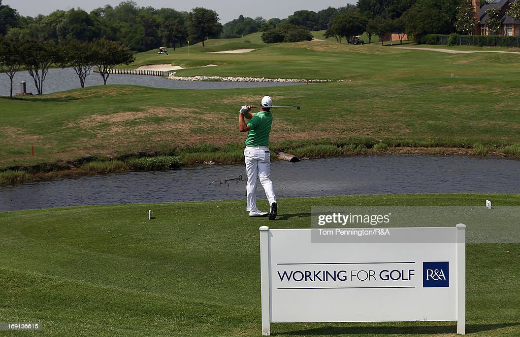 Robert Karlsson of Sweden hits a shot during The Open Championship International Final Qualifying America at Gleneagles Golf and Country Club on May 20, 2013 in Plano, Texas.