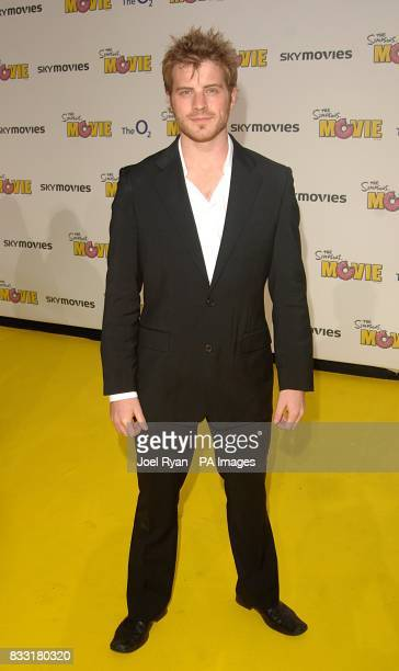 Robert Kazinsky arrives for the UK Premiere of The Simpsons Movie at the Vue Cinema The O2 Peninsula Square London