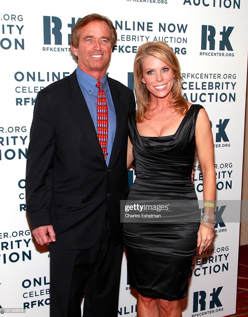 Robert Kennedy Jr. and actress <a gi-track='captionPersonalityLinkClicked' href=/galleries/search?phrase=Cheryl+Hines&family=editorial&specificpeople=209249 ng-click='$event.stopPropagation()'>Cheryl Hines</a> attend the Robert F. Kennedy Center for Justice and Human Rights 2012 Ripple of Hope gala at The New York Marriott Marquis on December 3, 2012 in New York City.