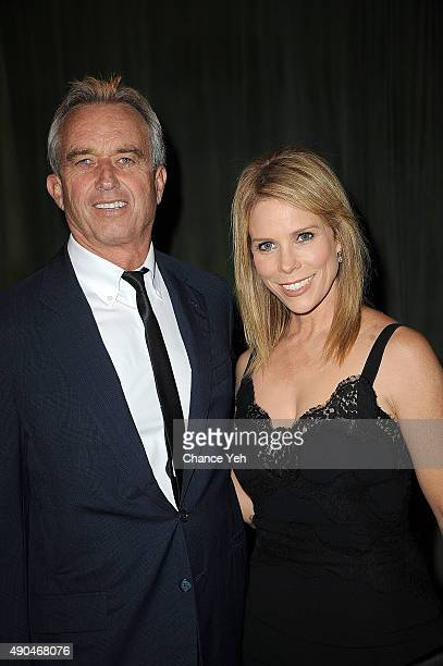 Robert Kennedy Jr and Cheryl Hines attend 3rd Annual Turtle Ball at The Bowery Hotel on September 28 2015 in New York City