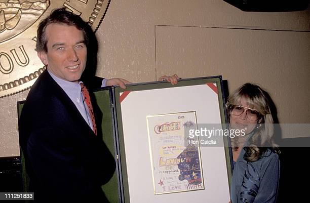 Robert Kennedy Jr and Cynthia Lennon during Unveiling of Beatles' 'Dead Sea Scrolls of Rock Roll' at Hard Rock Cafe in New York City New York United...