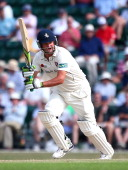 Robert Key of Kent hits out during day three of the LV County Championship match between Surrey and Kent at Guildford Cricket Club on July 22 2014 in...