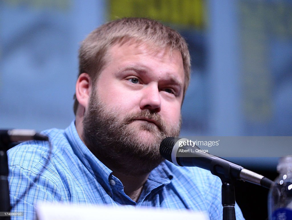 Robert Kirkman speaks onstage at AMC's 'The Walking Dead' panel during Comic-Con International 2013 at San Diego Convention Center on July 19, 2013 in San Diego, California.