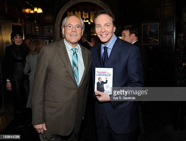 Robert Klein and Alan Colmes attend the signing of the book 'Thank The Liberals For Saving America' at the New York Friars Club on October 9 2012 in...