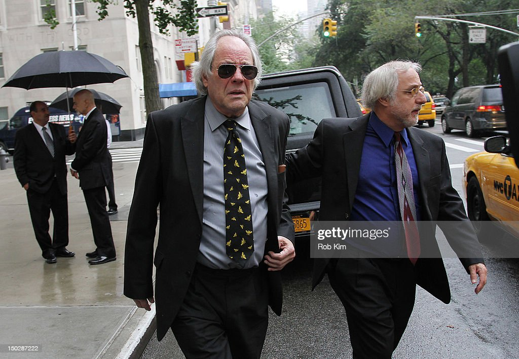 <a gi-track='captionPersonalityLinkClicked' href=/galleries/search?phrase=Robert+Klein&family=editorial&specificpeople=543963 ng-click='$event.stopPropagation()'>Robert Klein</a> attends the funeral service for Marvin Hamlisch at Temple Emanu-El on August 14, 2012 in New York City. Hamlisch died in Los Angeles on August 6, 2012 at age 68. In his long and distinguished career, the music man had received a Pulitzer Prize as well as the Oscar, Tony, Emmy and GRAMMY.