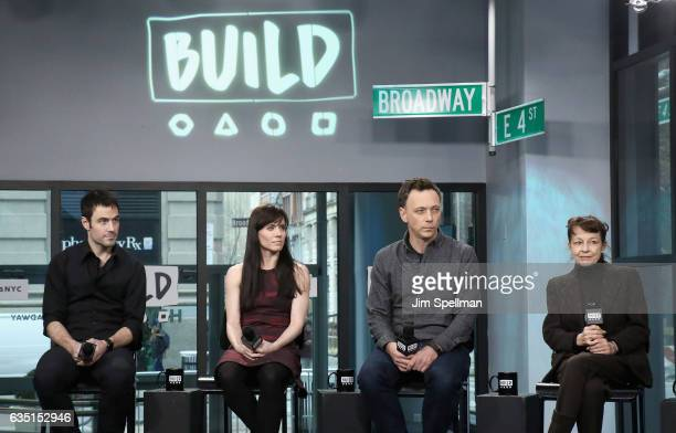 Robert Kleinendorst dancer Eran Bugge choreographer Larry Keigwin and choreographer Lila York The Paul Taylor Dance Company attend the Build series...