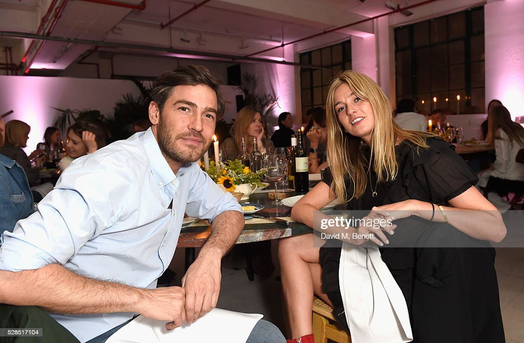 Robert Konjic and Camille Charriere attend a private dinner hosted by M.i.h Jeans to celebrate their 10th anniversary at Brewer Street Car Park on May 5, 2016 in London, England.