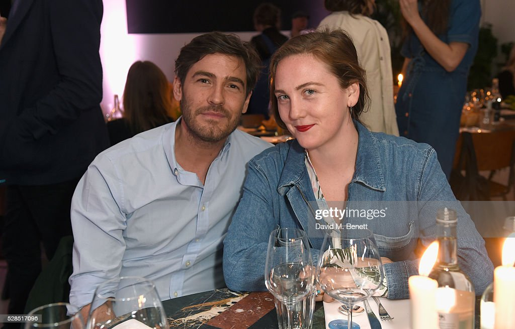 Robert Konjic and Caroline Gaimari attend a private dinner hosted by M.i.h Jeans to celebrate their 10th anniversary at Brewer Street Car Park on May 5, 2016 in London, England.