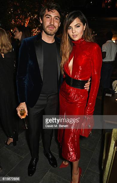 Robert Konjic and Doina Ciobanu attend the Tatler Little Black Book party with Polo Ralph Lauren at Restaurant Ours on October 20 2016 in London...