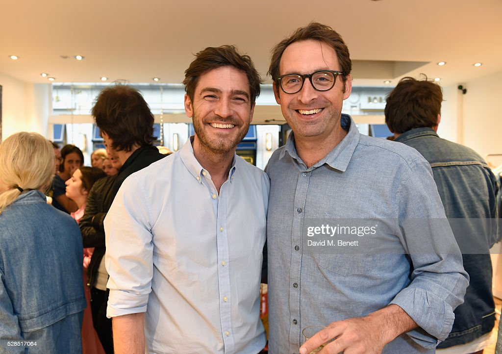 Robert Konjic and Johan Quintus attend M.i.h Jeans' 10th Anniversary Celebration at their pop-up concept store on Upper James Street on May 5, 2016 in London, England.