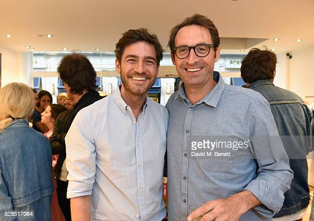Robert Konjic and Johan Quintus attend Mih Jeans' 10th Anniversary Celebration at their popup concept store on Upper James Street on May 5 2016 in...