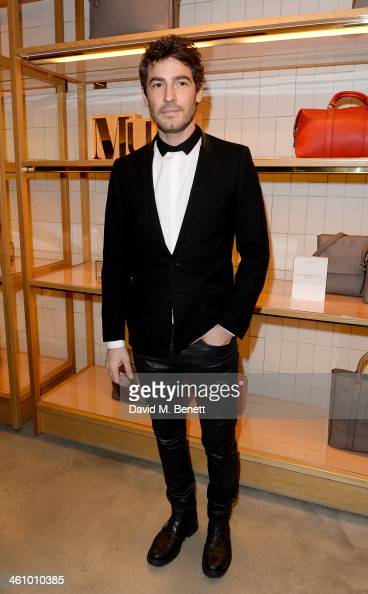 Robert Konjic attends a cocktail party hosted by Mulberry in its flagship store on New Bond Street in celebration of London Collections Mens and...