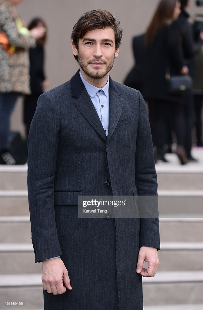 Robert Konjic attends the Burberry Prorsum show during The London Collections: Men Autumn/Winter 2014 held at Kensington Gardens on January 8, 2014 in London, England.