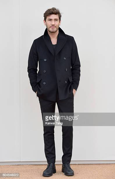 Robert Konjic attends the Burberry show during The London Collections Men AW16 at Kensington Gardens on January 11 2016 in London England