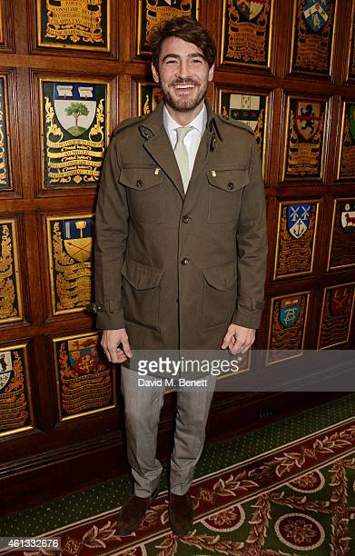Robert Konjic attends the Pringe Of Scotland Autumn/Winter 2014 menswear runway show during London Collections Men at Middle Temple Hall on January...