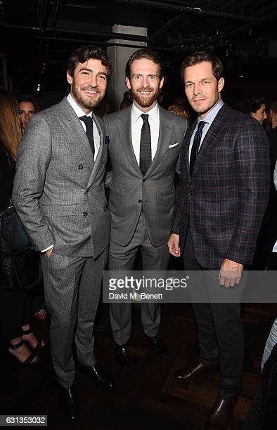Robert Konjic Craig McGinlay and Paul Sculfor attend the London Fashion Week Men's closing night dinner hosted by Dylan Jones Jefferson Hack and the...