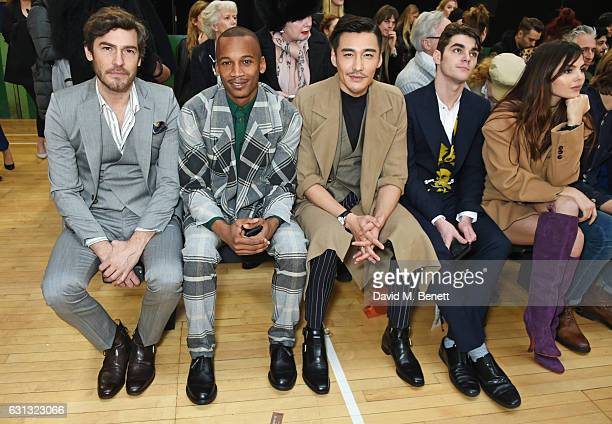 Robert Konjic Eric Underwood Hu Bing RJ Mitte and Doina Ciobanu attend the Vivienne Westwood show during London Fashion Week Men's January 2017...