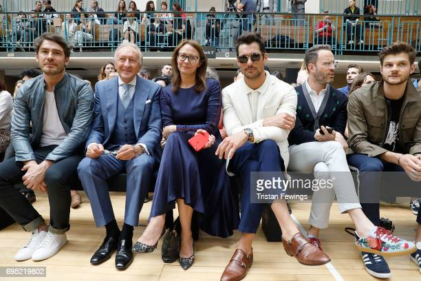 Robert Konjic Harold Tillman Caroline Rush David Gandy guest and Jim Chapman attend the Vivienne Westwood show during London Fashion Week Men's June...