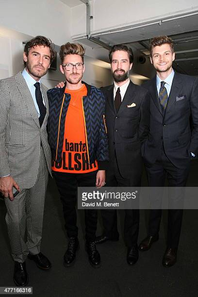 Robert Konjic Henry Holland Jack Guinness and Jim Chapman attend the House of Holland presentation during London Collections Men SS16 on June 14 2015...