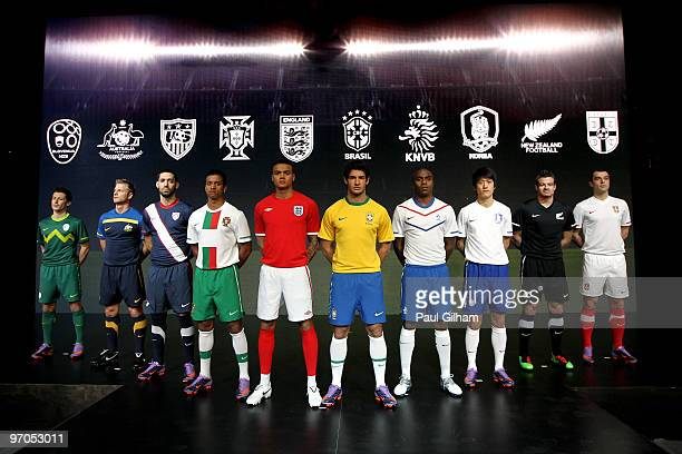 Robert Koren of Solvenia Vince Grella of Australia Clint Dempsey of USA Nani of Portugal one Umbrosponsored team Jermaine Jenas of England Alexandre...