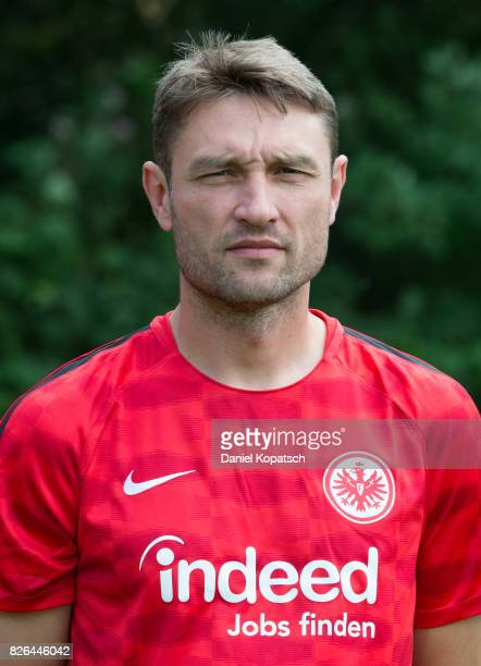 Robert Kovac of Eintracht Frankfurt poses during the team presentation at on August 4 2017 in Frankfurt am Main Germany