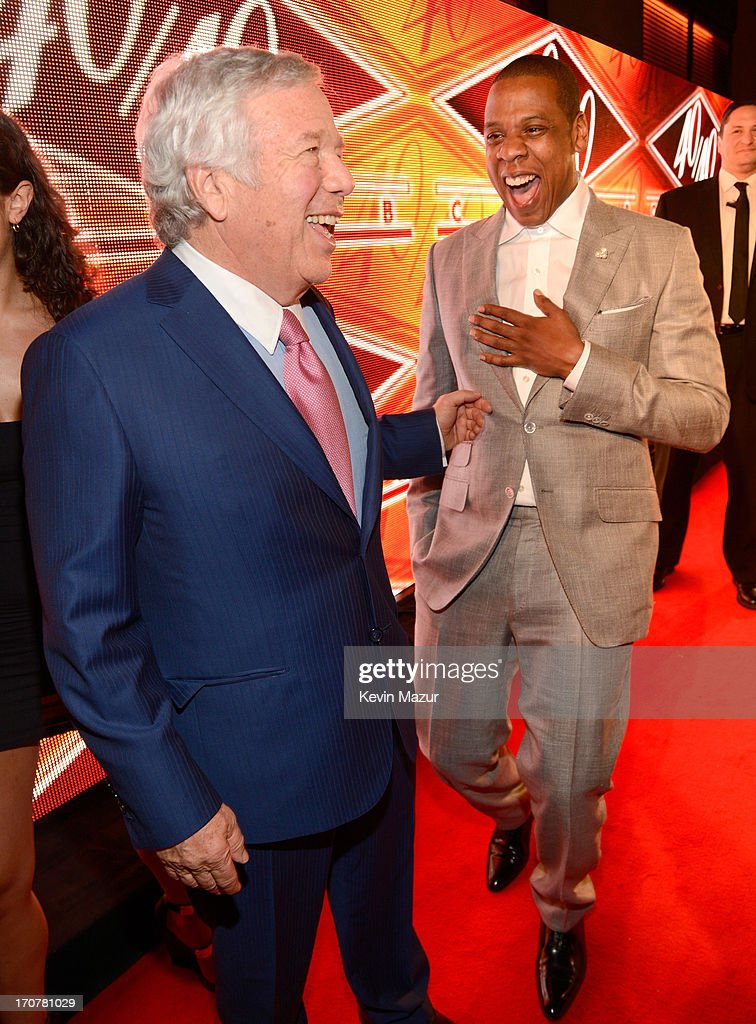 <a gi-track='captionPersonalityLinkClicked' href=/galleries/search?phrase=Robert+Kraft&family=editorial&specificpeople=221220 ng-click='$event.stopPropagation()'>Robert Kraft</a> and <a gi-track='captionPersonalityLinkClicked' href=/galleries/search?phrase=Jay-Z&family=editorial&specificpeople=201664 ng-click='$event.stopPropagation()'>Jay-Z</a> attend The 40/40 Club 10 Year Anniversary Party at 40 / 40 Club on June 17, 2013 in New York City.