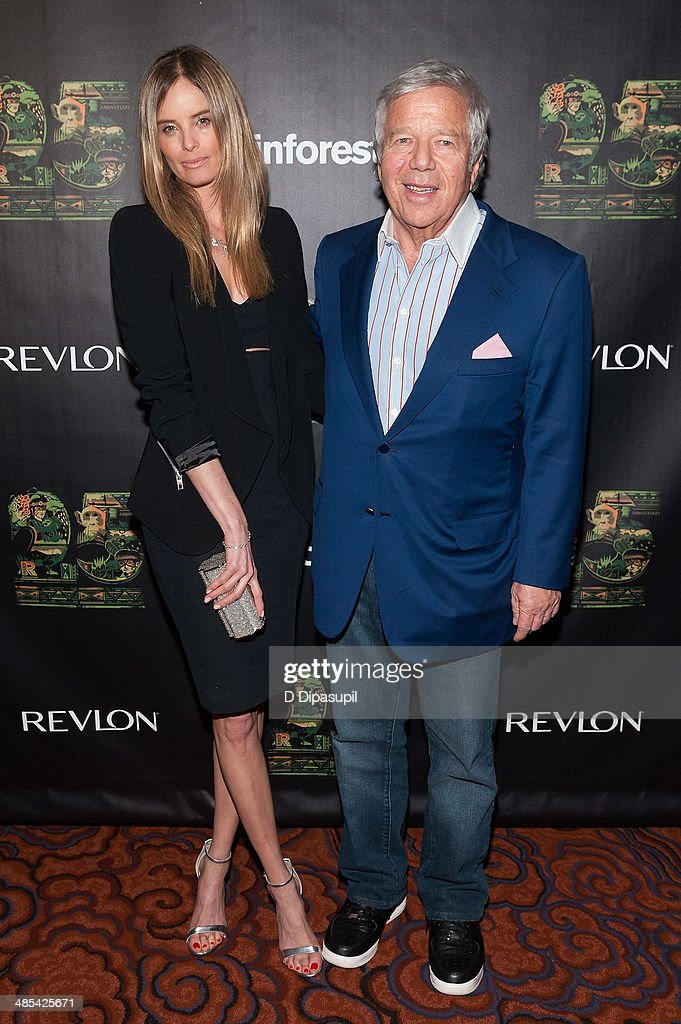 <a gi-track='captionPersonalityLinkClicked' href=/galleries/search?phrase=Robert+Kraft&family=editorial&specificpeople=221220 ng-click='$event.stopPropagation()'>Robert Kraft</a> (R) and Ricki Noel Lander attend the after party for the 25th Anniversary concert for the Rainforest Fund at the Mandarin Oriental Hotel on April 17, 2014 in New York City.