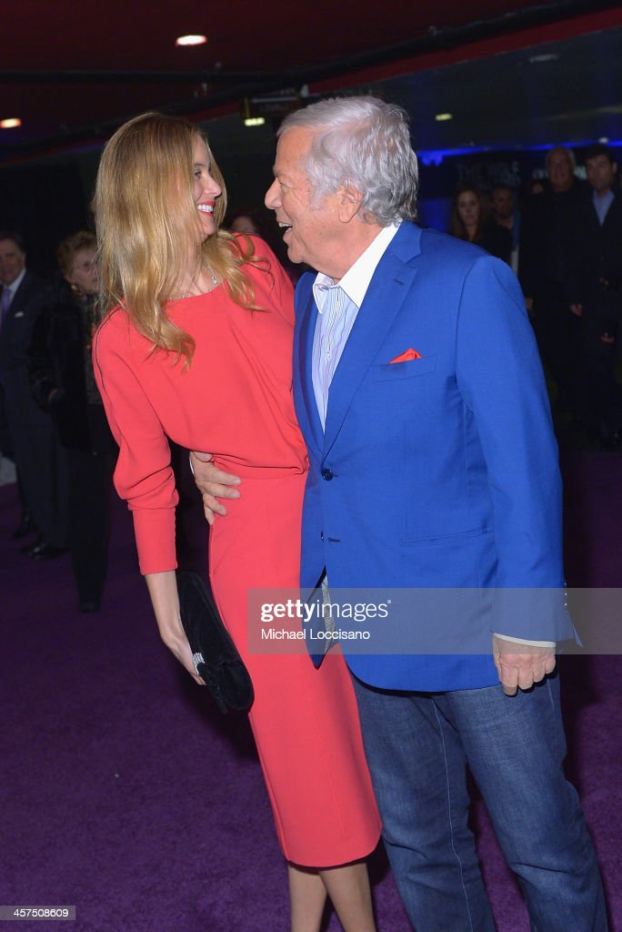 <a gi-track='captionPersonalityLinkClicked' href=/galleries/search?phrase=Robert+Kraft&family=editorial&specificpeople=221220 ng-click='$event.stopPropagation()'>Robert Kraft</a> and Ricki Noel Lander attend the 'The Wolf Of Wall Street' premiere after party at Roseland Ballroom on December 17, 2013 in New York City.