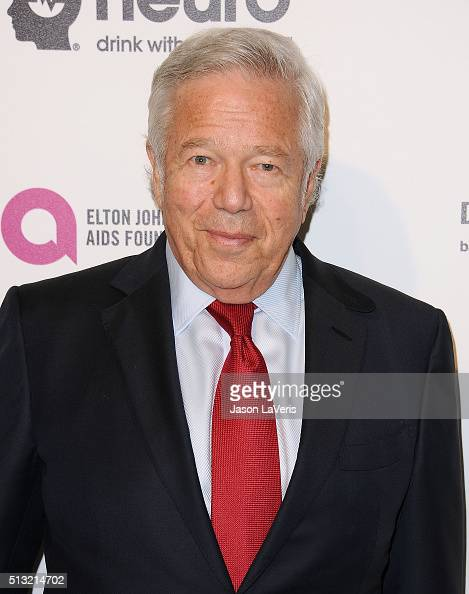 Robert Kraft attends the 24th annual Elton John AIDS Foundation's Oscar viewing party on February 28 2016 in West Hollywood California