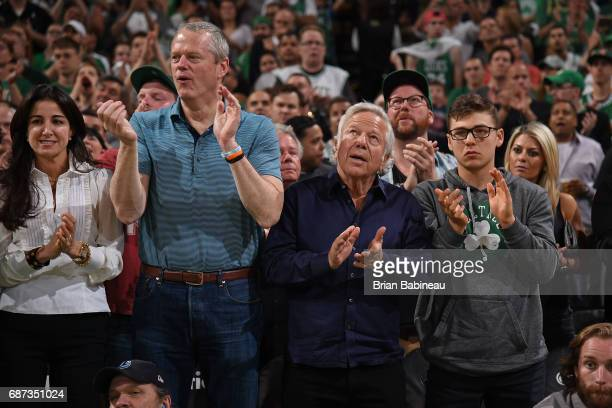Robert Kraft of the New England Patriots attends Game Two of the Eastern Conference Finals between the Cleveland Cavaliers and the Boston Celtics...