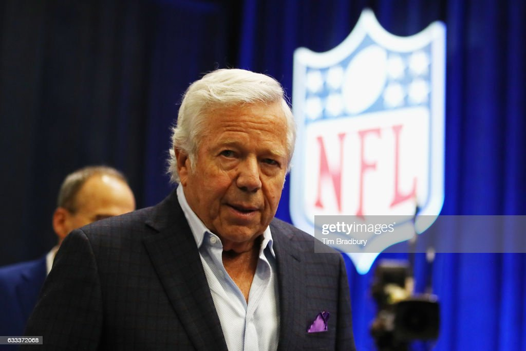 Robert Kraft, owner and CEO of the New England Patriots, attends NFL Commissioner Roger Goodell's press conference at the George R. Brown Convention Center on February 1, 2017 in Houston, Texas.