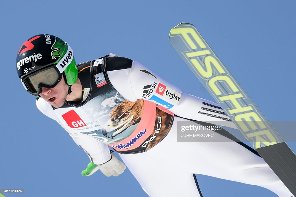 <a gi-track='captionPersonalityLinkClicked' href=/galleries/search?phrase=Robert+Kranjec&family=editorial&specificpeople=722812 ng-click='$event.stopPropagation()'>Robert Kranjec</a> of Slovenia competes in the FIS Ski Flying World Cup Team Event in Planica, Slovenia, on March 21, 2015. AFP PHOTO / JURE MAKOVEC