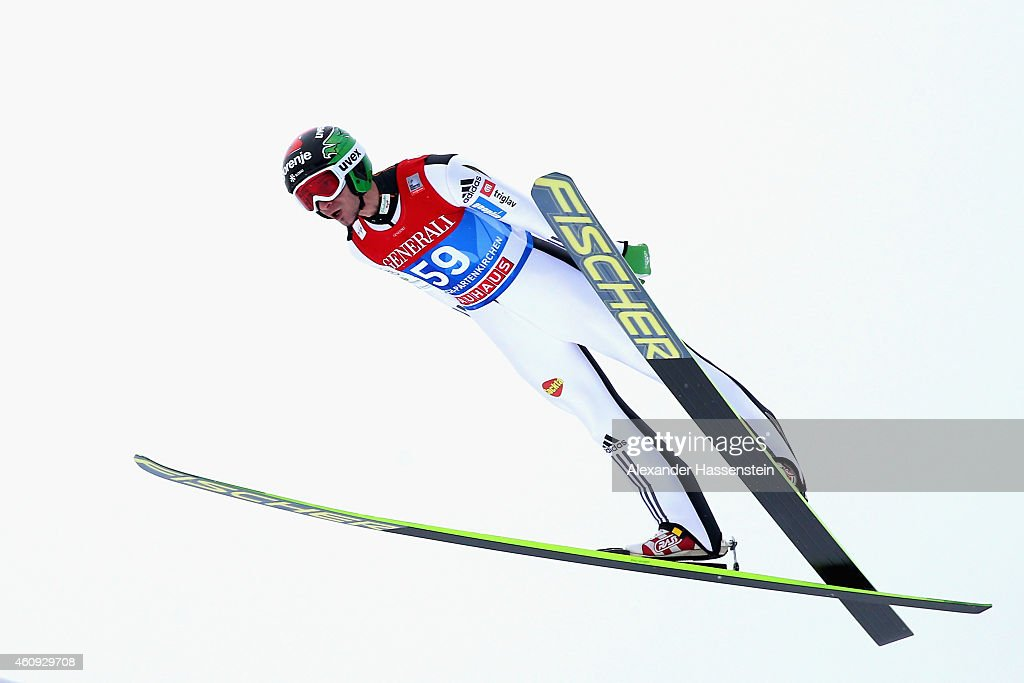 Robert Kranjec of Slovenia competes on day 3 of the Four Hills Tournament Ski Jumping event at Olympia-Schanze on December 31, 2014 in Garmisch-Partenkirchen, Germany.