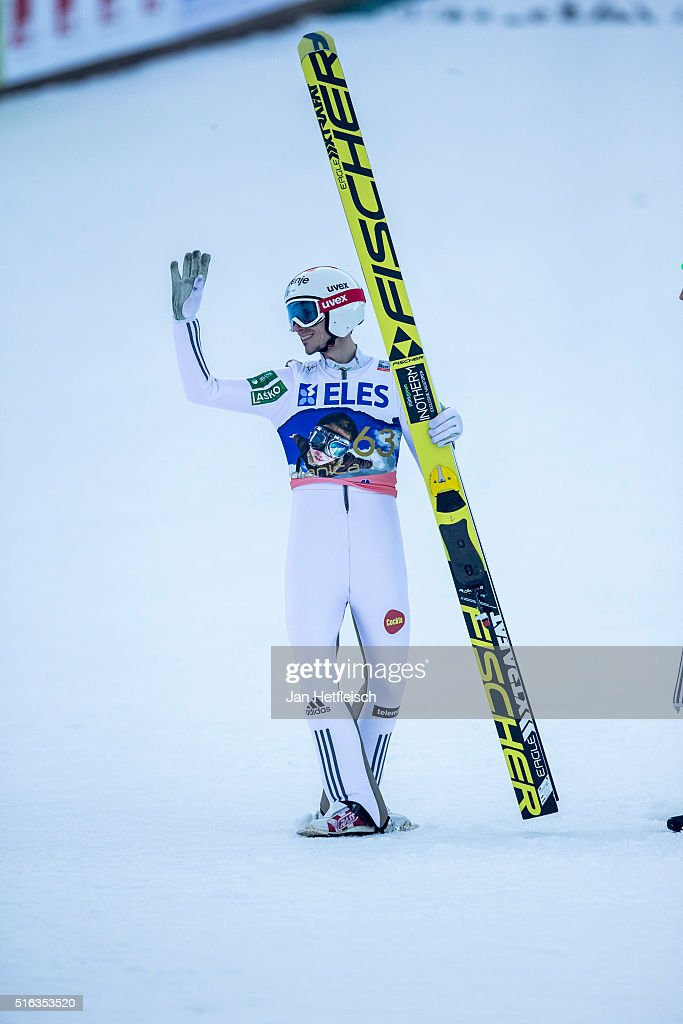 <a gi-track='captionPersonalityLinkClicked' href=/galleries/search?phrase=Robert+Kranjec&family=editorial&specificpeople=722812 ng-click='$event.stopPropagation()'>Robert Kranjec</a> of Slovenia crashes after his final jump of the FIS Ski Jumping World Cup at Planica on March 18, 2016 in Planica, Slovenia.