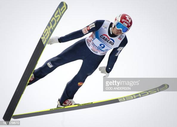 Robert Kranjec of Slovenia jumps during the FIS Ski Jumping World Cup team competition on the Muehlenkopfschanze hill in Willingen western Germany on...