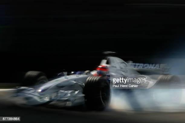 Robert Kubica BMW Sauber F106 Grand Prix of Brazil Autodromo Jose Carlos Pace Interlagos Sao Paolo 22 October 2006 Robert Kubica late braking and...
