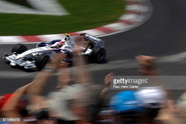 Robert Kubica BMW Sauber F108 Grand Prix of Canada Circuit Gilles Villeneuve 08 June 2008 Fans waving as Robert Kubica drives by on the way to his...
