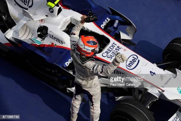 Robert Kubica BMW Sauber F108 Grand Prix of Malaysia Sepang International Circuit 23 March 2008 Robert Kubica at the finish of the 2008 Grand Prix of...