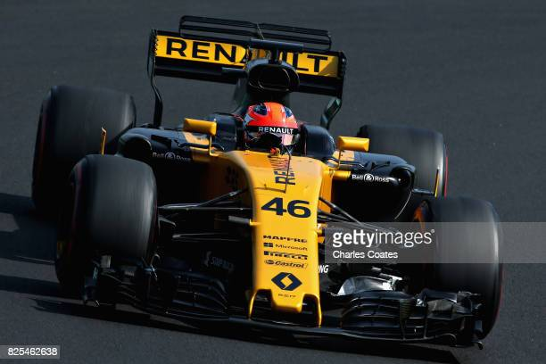 Robert Kubica driving the Renault Sport Formula One Team Renault RS17 during day two of F1 in season testing at Hungaroring on August 2 2017 in...