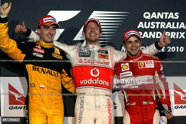 Robert Kubica Jenson Button Felipe Massa Grand Prix of Australia Albert Park Melbourne Grand Prix Circuit 28 March 2010