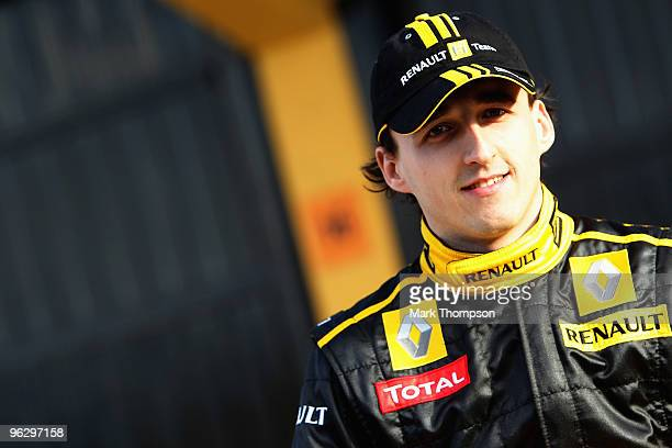 Robert Kubica of Poland and Renault F1 attends the unveiling of the new new Renault R30 at the Ricardo Tormo circuit on January 31 2010 in Valencia...