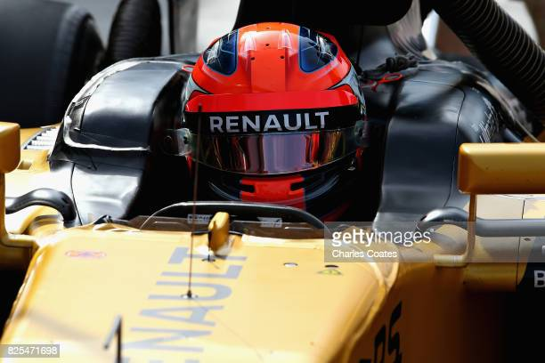 Robert Kubica of Poland and Renault Sport F1 in the Pitlane during day two of F1 in season testing at Hungaroring on August 2 2017 in Budapest Hungary