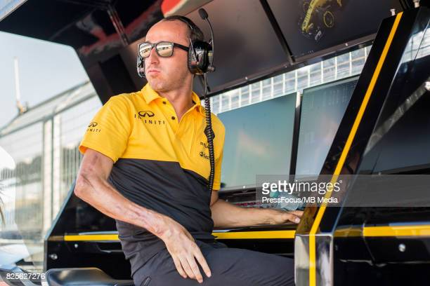 Robert Kubica of Poland and Renault Sport F1 looks on during day one of F1 inseason testing at Hungaroring on August 1 2017 in Budapest Hungary