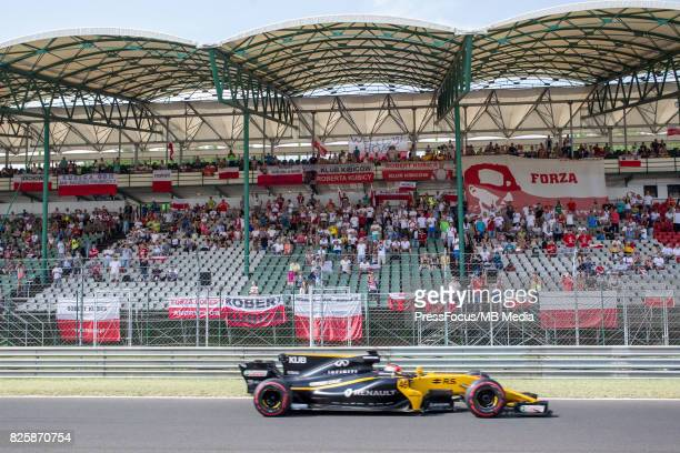 Robert Kubica of Poland and Renault Sport F1 looks on during day one of F1 inseason testing at Hungaroring on August 02 2017 in Budapest Hungary