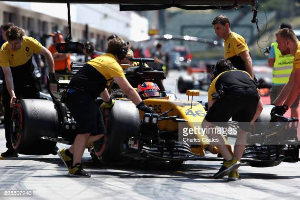 Robert Kubica of Poland driving the Renault Sport Formula One Team Renault RS17 in the Pitlane during day two of F1 in season testing at Hungaroring...