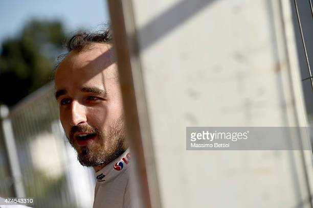 Robert Kubica of Poland in the regrouping area during Day Two of the WRC Portugal on May 23 2015 in Porto Portugal