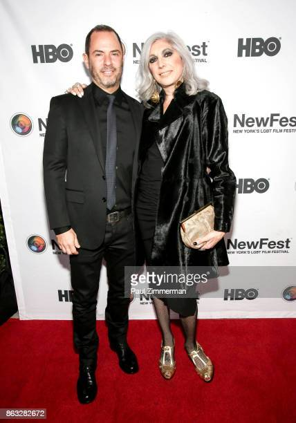 Robert Kushner and Lauren Ezersky attend NewFest 2017 Opening Night Susanne Bartsch On Top at SVA Theater on October 19 2017 in New York City