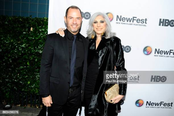 Robert Kushner and Lauren Ezersky attend NewFest 2017 Opening Night Susanne Bartsch On Top at SVA Theatre on October 19 2017 in New York City